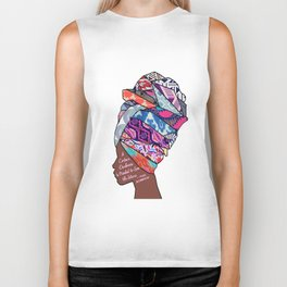 Woman in Colors - 4 - A Certain Darkness is Needed to See the Stars Biker Tank