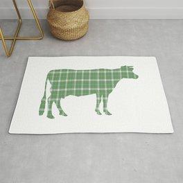 Cow: Green Plaid Rug