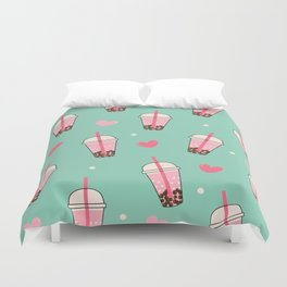 Boba Tea Love Duvet Cover