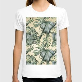 Palm Leaves Classic Linen T-shirt