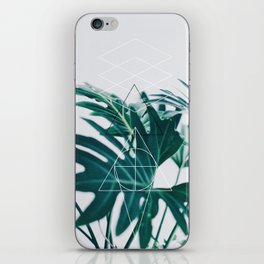Botanic geometry iPhone Skin