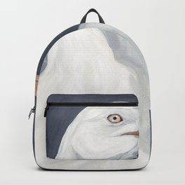 Herring Gull Portrait Bird Beach Backpack