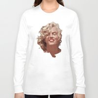 marilyn Long Sleeve T-shirts featuring marilyn by gazonula