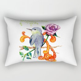 Rose bird Rectangular Pillow