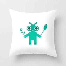 Romantic Robot #society6 #decor #buyart #artprint Throw Pillow