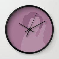 leia Wall Clocks featuring Leia by olive hue designs