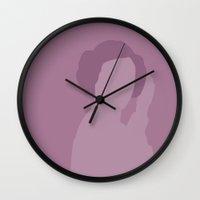 princess leia Wall Clocks featuring Leia by olive hue designs