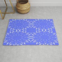 Periwinkle Blue Color Burst Rug