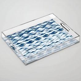 Glitch Waves - Classic Blue Acrylic Tray
