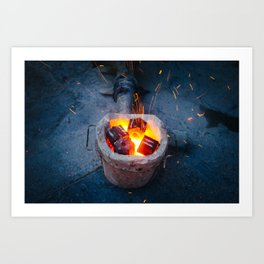 controlled burn Art Print