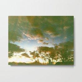Window sunset Metal Print