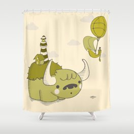 Land Ho! Shower Curtain