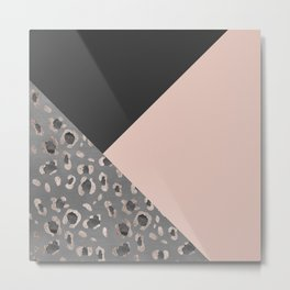 Leopard Geometric Glam #1 #minimal #decor #art #society6 Metal Print