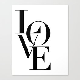 LOVE IS SWEET, Love Sign,Love Art,Wedding Decor,Anniversary Quote,Love Symbol,Love you more Canvas Print