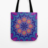 kaleidoscope Tote Bags featuring Kaleidoscope by David Zydd - Colorful Mandalas & Abstrac