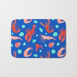 Dance of the Crustaceans in Ocean Blue Bath Mat