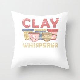 Clay Display Throw Pillow