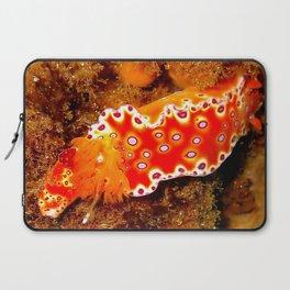 Bright Orange Nudibranch Laptop Sleeve