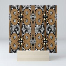 Cocoa Brown Mini Art Print