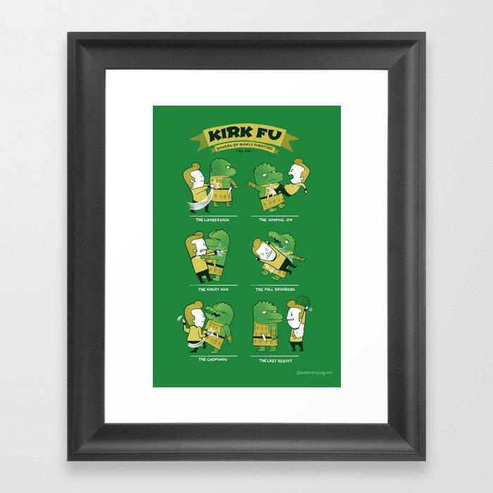 Kirk Fu Framed Art Print