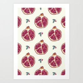 pomegranate garden Art Print