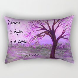 There is Hope in a Tree Rectangular Pillow
