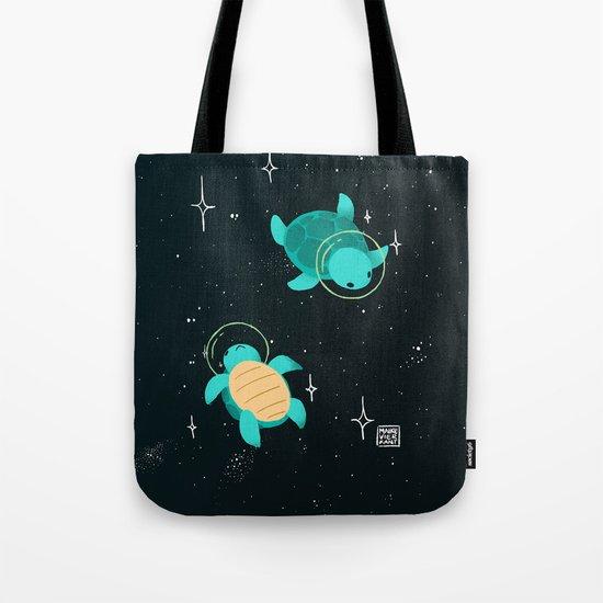 Space Turtles Tote Bag