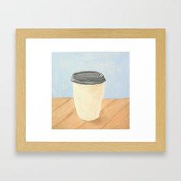 Coffee (Blue) Framed Art Print