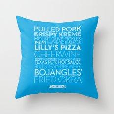 Raleigh — Delicious City Prints Throw Pillow