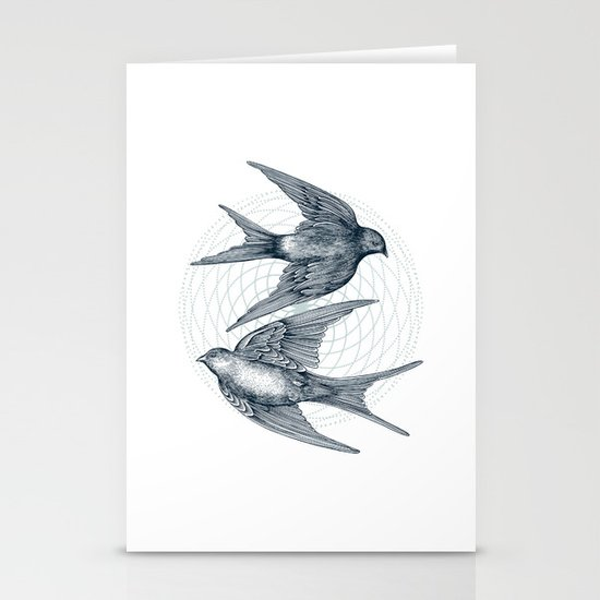 Two Swallows Stationery Cards