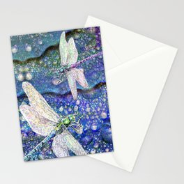 Dragonflies on Dragon's Tears Stationery Cards