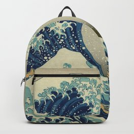 Ukiyo-e, Under the Wave off Kanagawa, Katsushika Hokusai Backpack