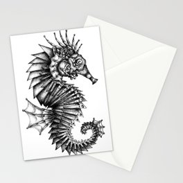 Steampunk Seahorse Stationery Cards