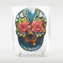 mexican skull Shower Curtain