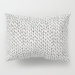 Hand Knit Grey Pillow Sham