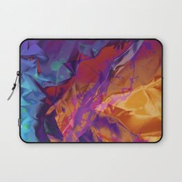Dragon's Back. Dynamic, Blue, Purple and Orange Abstract. Laptop Sleeve