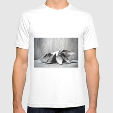 Origami  White MEDIUM Mens Fitted Tee
