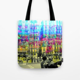 As an example of a result in spite of the process. Tote Bag