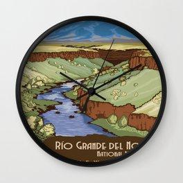 Vintage poster - Rio Grande Del Norte Wall Clock