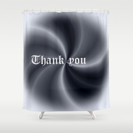 Pattern with writing Shower Curtain