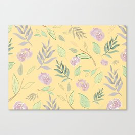 Simple and stylized flowers 3 Canvas Print