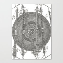 Mandala w Poles Canvas Print