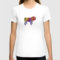 english bulldog T-shirts featuring English Bulldog in watercolor by Paulrommer