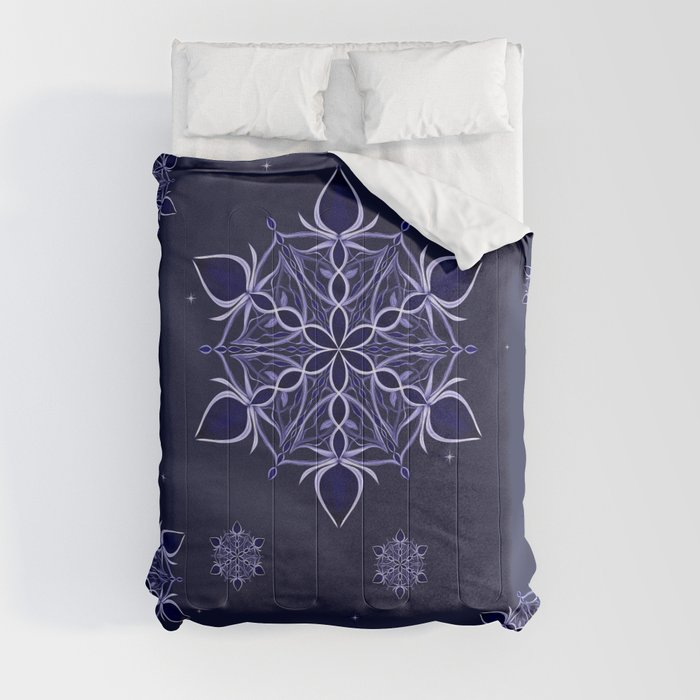 Silver and Sapphires Comforters
