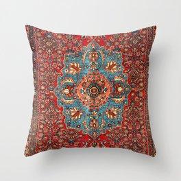 Bidjar Antique Kurdish Northwest Persian Rug Print Throw Pillow