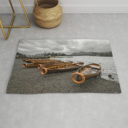 Boats at Derwent Water Rug