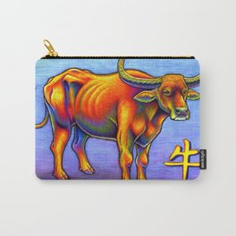 Chinese Zodiac Year of the Ox Colorful Bull Carry-All Pouch