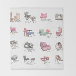 Classic Chair Designs Throw Blanket