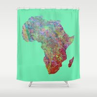 africa Shower Curtains featuring Africa by mthbt