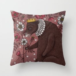 Snow-White and Rose-Red (2) Throw Pillow